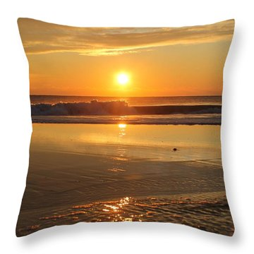 Sun Ripples Throw Pillow by Robert Banach