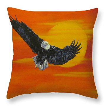 Sun Riser Throw Pillow by Wendy Shoults