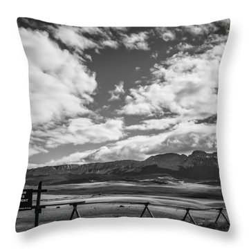 Sun River Wildlife Management Area Throw Pillow