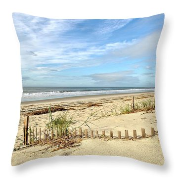 Sun Sand Sea Throw Pillow