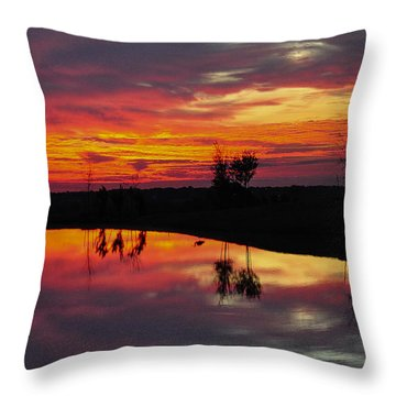 Sun Set At Cowen Creek Throw Pillow