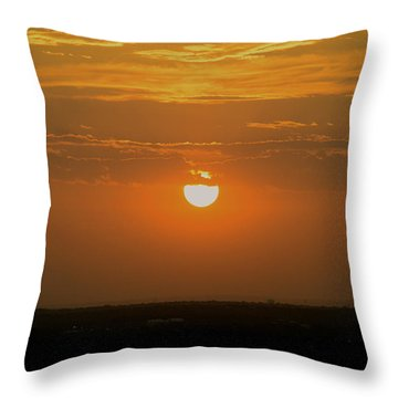 Sun Set Over Sa Throw Pillow by Shawn Marlow