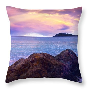 Sun Set Over St. Thomas Throw Pillow