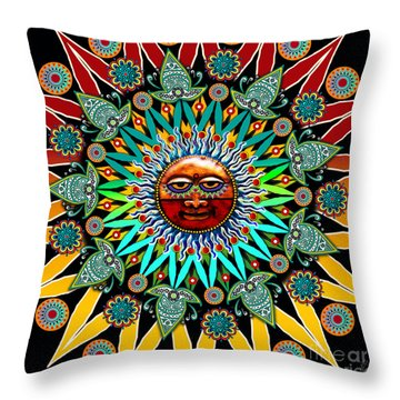 Sun Shaman Throw Pillow