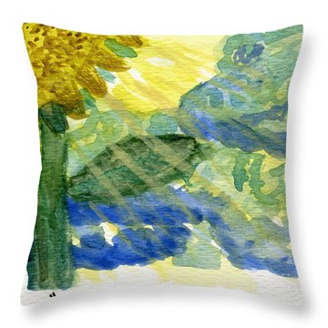 Sun Shines For All II Throw Pillow