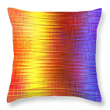 Sun Shining On The Lake Throw Pillow