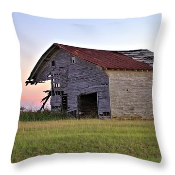 Sun Slowly Sets Throw Pillow by Gordon Elwell