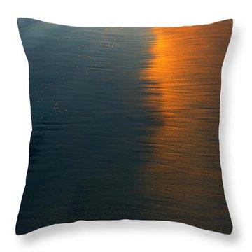 Sun Soaked Beach Throw Pillow by Heidi Smith