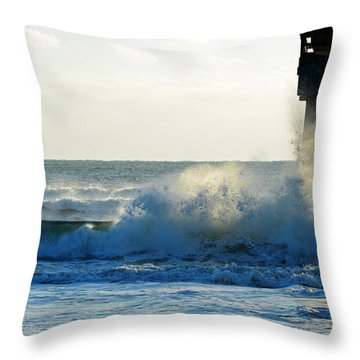 Sun Splash Throw Pillow by Anthony Baatz