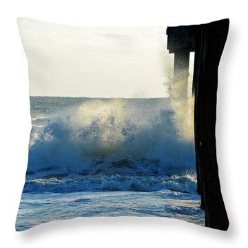 Sun Splash II Throw Pillow by Anthony Baatz