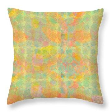 Throw Pillow featuring the digital art Sun Spots by Gabrielle Schertz