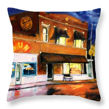 Sun Studio - Night Throw Pillow