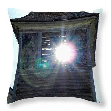 Sun Through The Steeple-by Cathy Anderson Throw Pillow