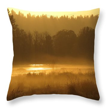Sun Up At The Refuge Throw Pillow