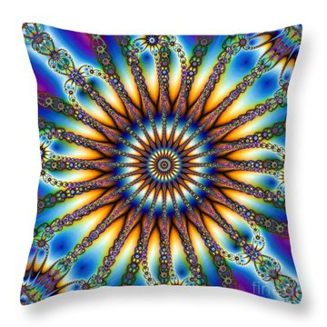 Sun Wheel 2 Throw Pillow by Elizabeth McTaggart