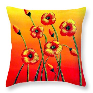 Sun Worshipers Throw Pillow by Tim Townsend