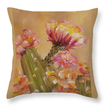 Throw Pillow featuring the painting Sun Worshipper by Judith Rhue