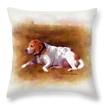 Throw Pillow featuring the photograph Sunbathing by KLM Kathel