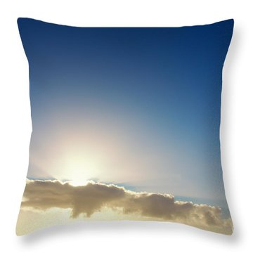 Sunbeams Behind Clouds Throw Pillow