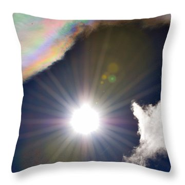 Sunbeams Throw Pillow by Heather L Wright