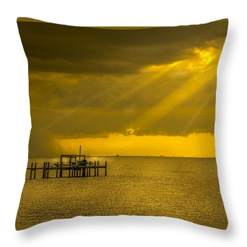 Sunbeams Of Hope Throw Pillow by Marvin Spates