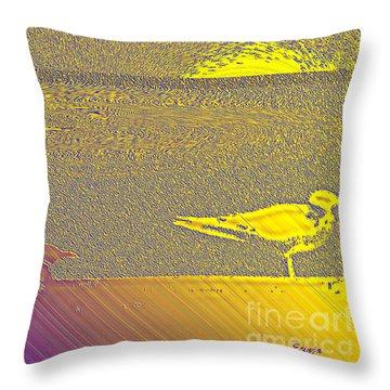 Throw Pillow featuring the photograph Sunbird by Ecinja Art Works