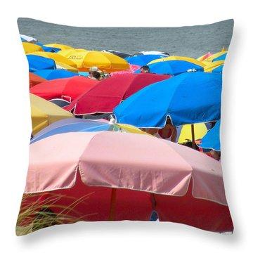 Sunbrellas Throw Pillow by Kim Bemis