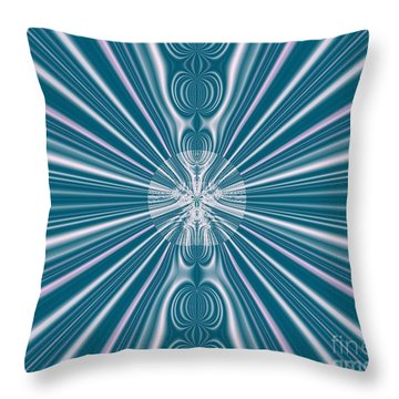 Throw Pillow featuring the digital art Sunburst In The Rain by Luther Fine Art