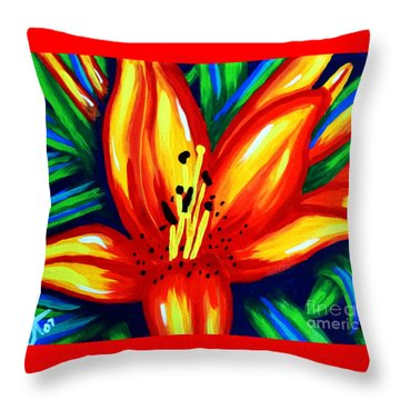Sunburst Throw Pillow by Jackie Carpenter