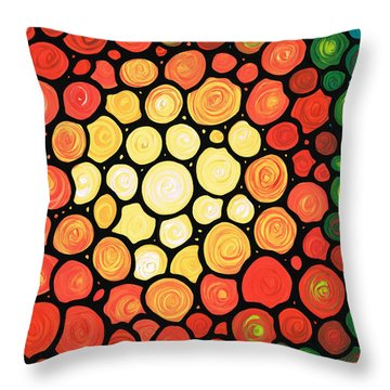 Sunburst Throw Pillow by Sharon Cummings