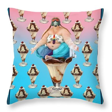 Sundae Girl Throw Pillow