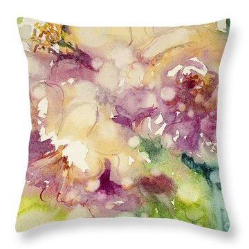 Sundappled Rose Throw Pillow