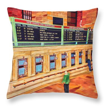 Sunday Am At Grand Central Throw Pillow