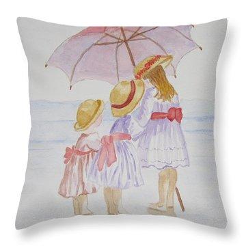 Sunday Best At The Beach Throw Pillow by Elvira Ingram