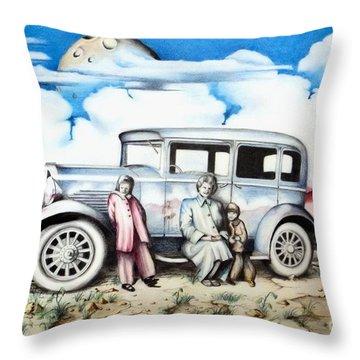 Sunday Drive Throw Pillow