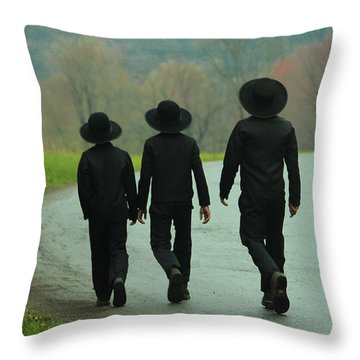 Sunday Go To Meetin' Throw Pillow