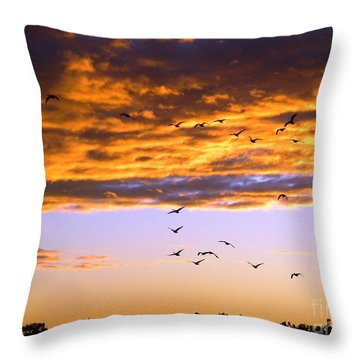 Gods Outdoor Church Sunday Throw Pillow