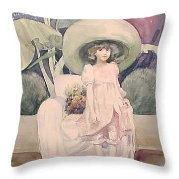 Throw Pillow featuring the painting Sunday Morning by Marina Gnetetsky