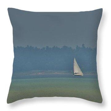 Sunday Sailing  Throw Pillow by Daniel Thompson