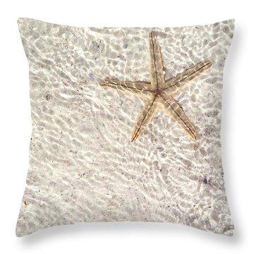 Throw Pillow featuring the photograph Anna Maria Island Starfish by Jean Marie Maggi