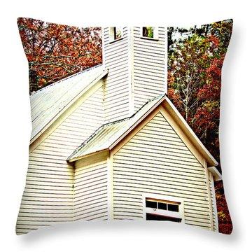 Throw Pillow featuring the photograph Sunday School by Faith Williams