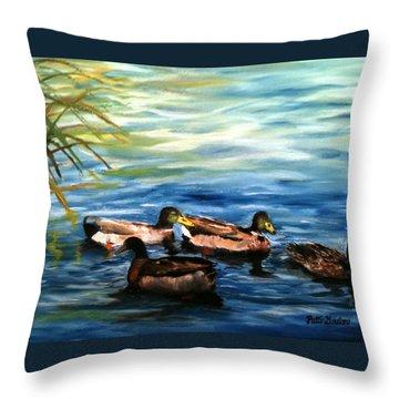 Sunday Swim Throw Pillow