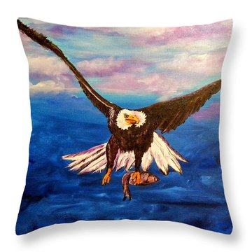 Sunday's Catch Throw Pillow