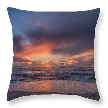 Sundown At Moss Landing Throw Pillow