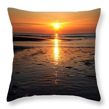 Sundown At The North Sea Throw Pillow