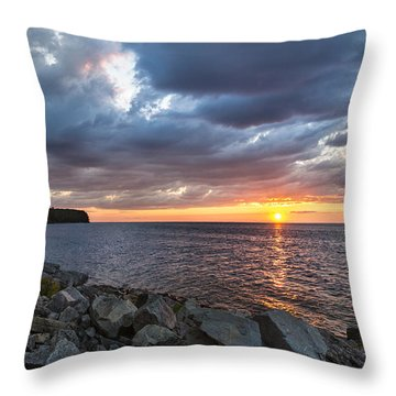 Sundown Bay Throw Pillow by Bill Pevlor