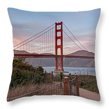 Throw Pillow featuring the photograph Sundown Bridge by Kate Brown