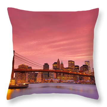 Sundown City Throw Pillow