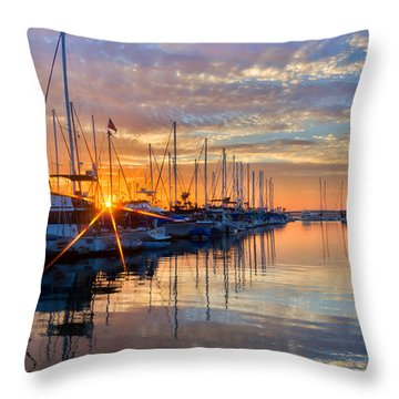 Sundown Throw Pillow by Heidi Smith