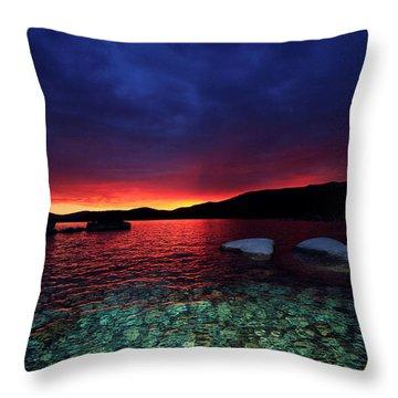 Sundown In Lake Tahoe Throw Pillow